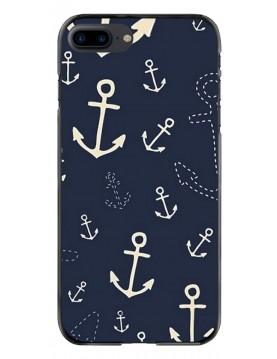 Coque de protection pour iPhone 7 plus/8 Plus Look ancre marin