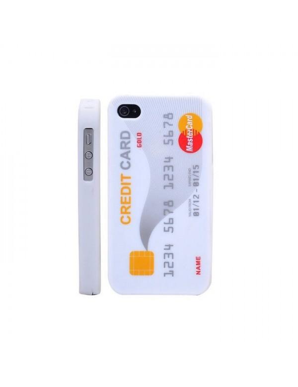 Coque silicone iPhone 4/4S -Carte de crédit blanche mastercard