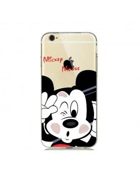 Coque- silicone- transparente- Mickey- mousse- pour- iPhone -7 PLUS-/8 PLUS