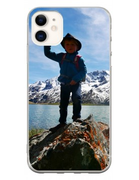 Coque personnalisable pour iPhone 11 - Contour Souple Blanc