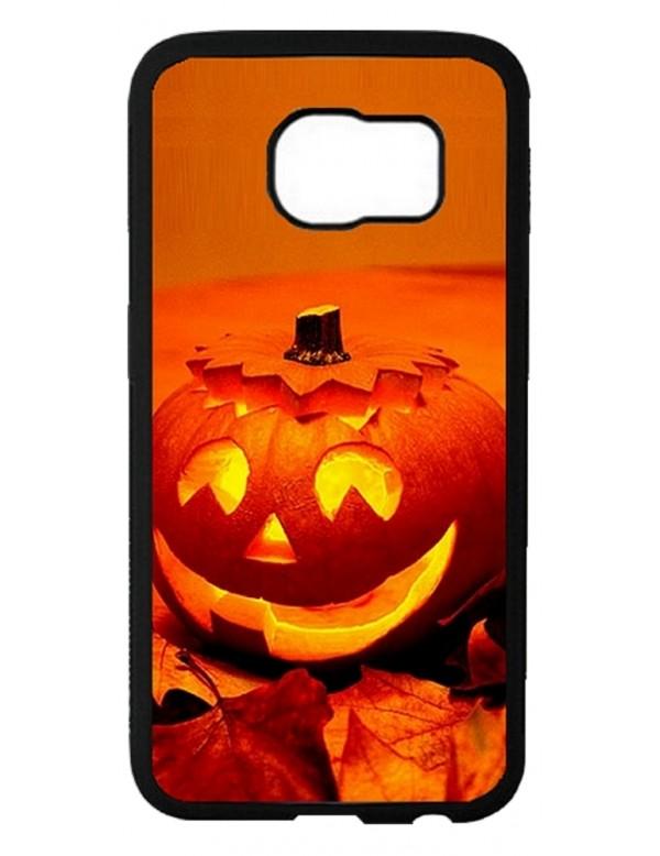 """Coque Samsung Galaxy S6 """"Halloween"""" citrouille orange"""