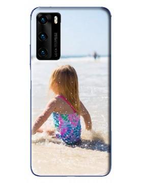 Coque Huawei P40 à Personnaliser- Contour Souple Noir