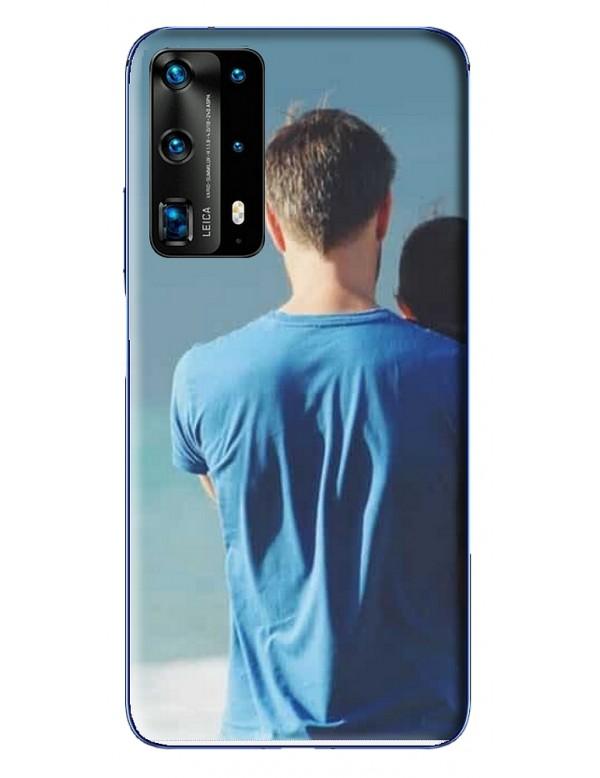 Coque Huawei P40 Pro Plus à Personnaliser- Contour Souple Noir