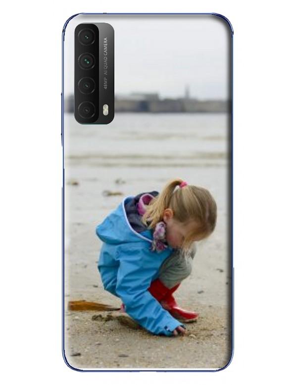 Coque Huawei P Smart 2021 à Personnaliser- Contour Souple Noir