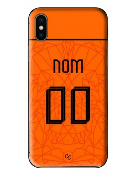 COQUE MAILLOT FOOT PAYS BAS EURO 2020 DOMICILE - PERSONNALISABLE