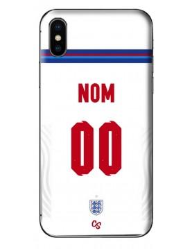 COQUE MAILLOT FOOT ANGLETERRE EURO 2020 DOMICILE - PERSONNALISABLE