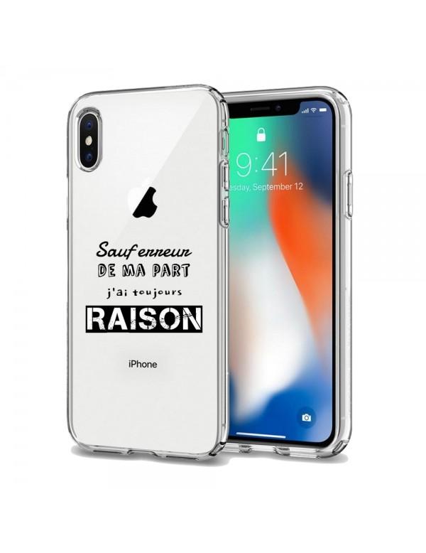 COQUE IPHONE SILICONE SAUF ERREUR DE MA PART J'AI TOUJOURS RAISON