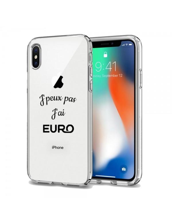 Coque silicone J'peux pas j'ai Euro