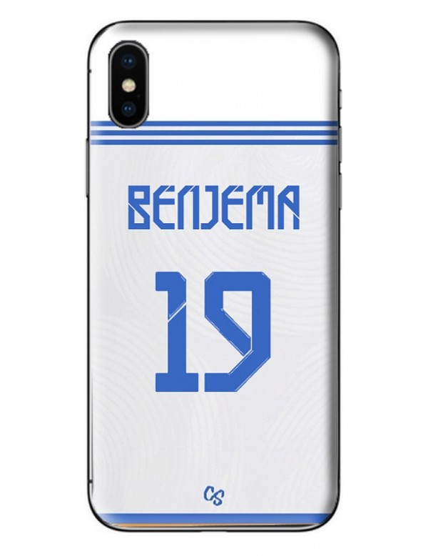 COQUE MAILLOT FOOT - REAL MADRID DOMICILE 2021/2022 - PERSONNALISABLE