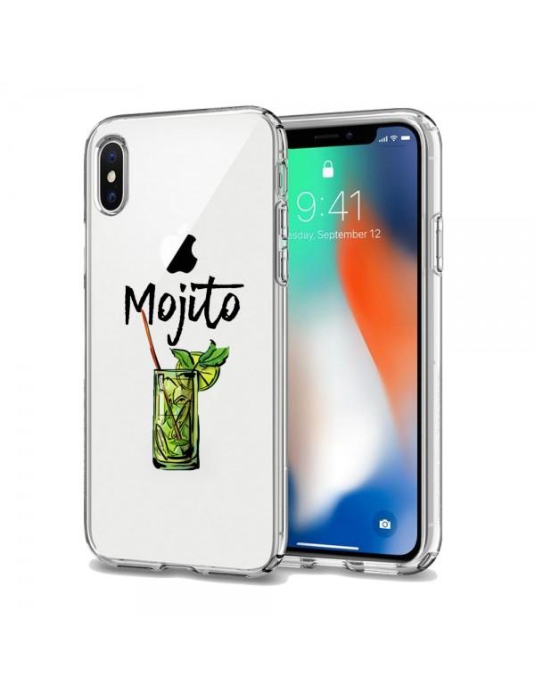 Coque silicone transparente Mojito