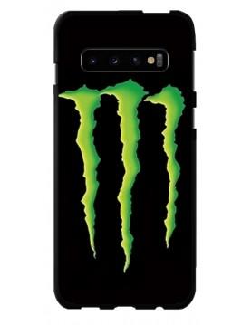 Coque anti-chocs noir pour Samsung Galaxy S10 - Monster