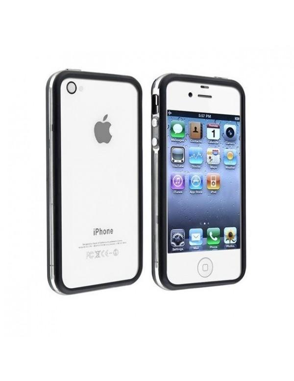 Bumper en Silicone Noir Translucide pour iPhone 4/4S