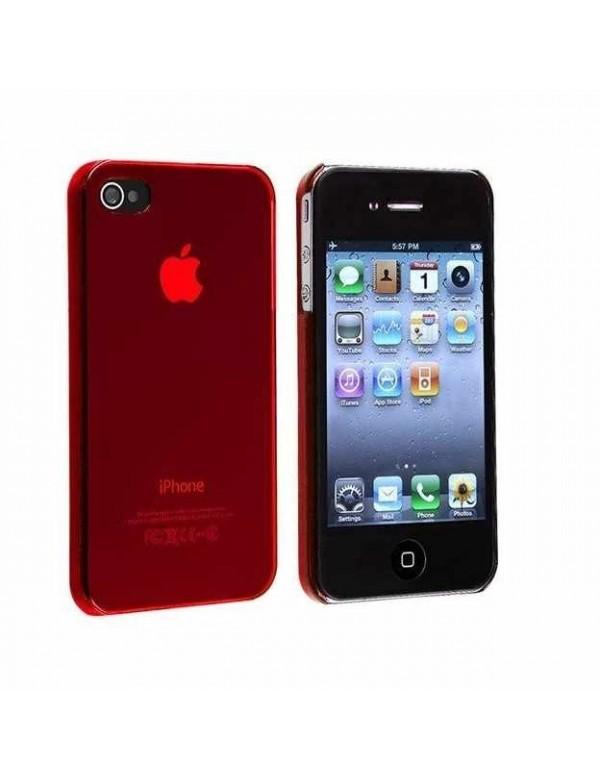 Coque rigide iPhone 4/4S  - Rouge transparent