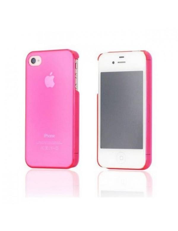 Coque souple iPhone 4/4S Color Basic-Rose fuschia translucide