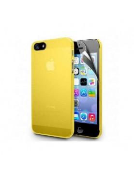 Coque silicone jaune iPhone 4/4S