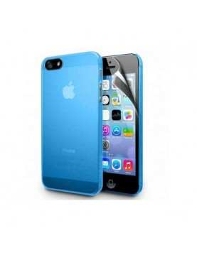 Coque-Silicone-Bleu-iPhone-4-4S