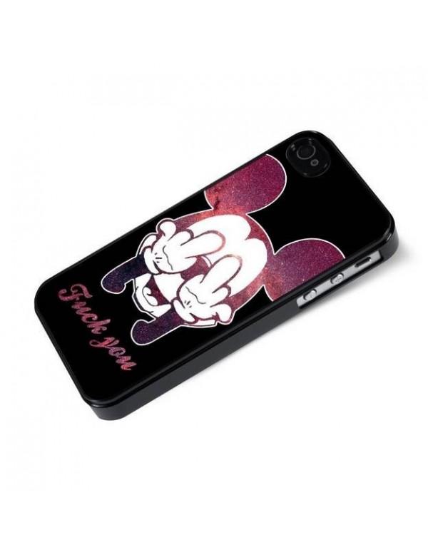 Coque rigide iPhone 4/4S - Fuck you Mickey