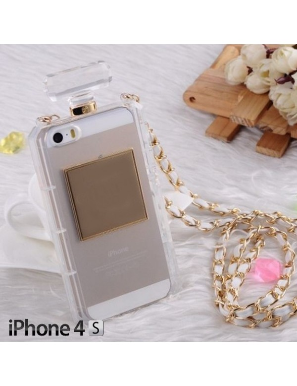 Coque souple transparente pour iPhone 4/4S - Look Bouteille de parfum