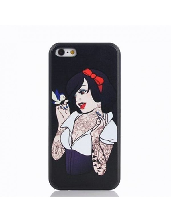 Coque iPhone 4/4S - Princesse tattoo Blanche neige