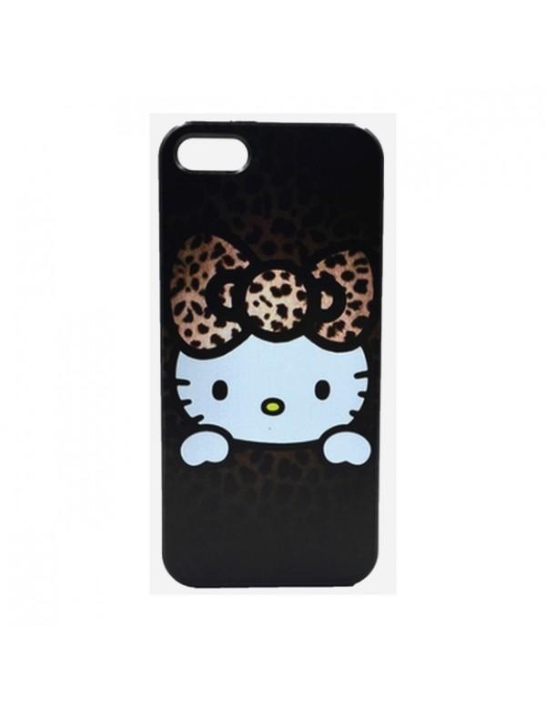 Coque rigide iPhone 4/4S - Hello Kitty marron