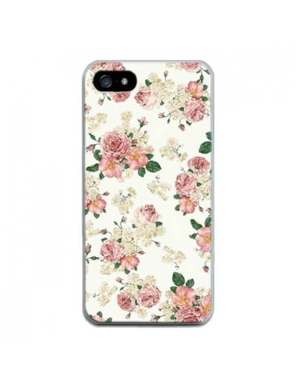 Coque iPhone 4/4S - Fleurs rose