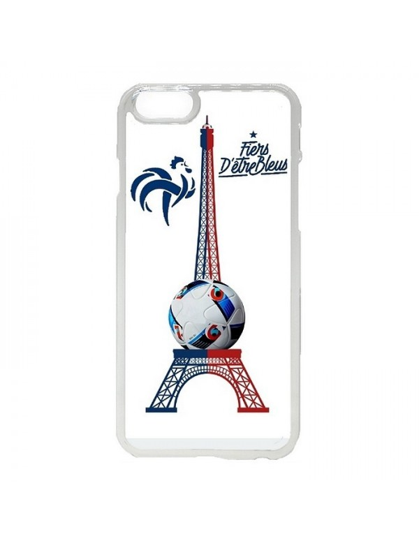 Coque rigide iPhone 4/4S - Fiers d'être bleus - Tour Eiffel bleu blanc rouge