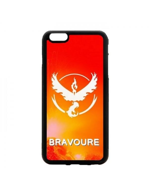 Coque rigide iPhone 4/4S - Pokemon go team valor bravoure rouge