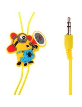 Écouteurs les Minions intra-auriculaires prise 3.5mm