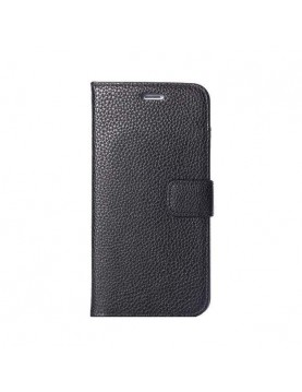 Etui portefeuille iPhone 6 Plus/6S Plus - Folio Grainé noir