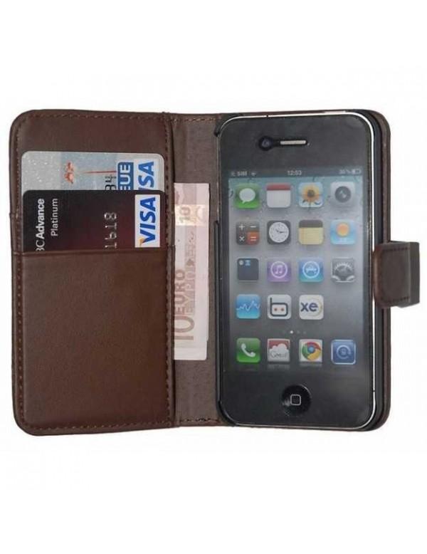 Etui portefeuille iPhone 6/6S - Simili cuir marron