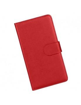 Etui portefeuille iPhone 6/6S - Simili cuir rouge