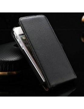 Etui à clapet iPhone 5/5S, SE - Leather Case Noir