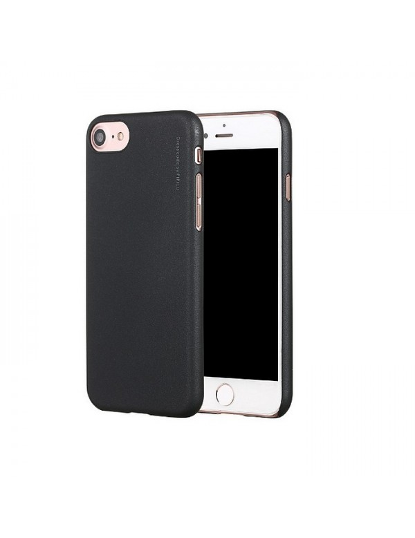Coque iPhone 7/8  X-Level Metallic - noir