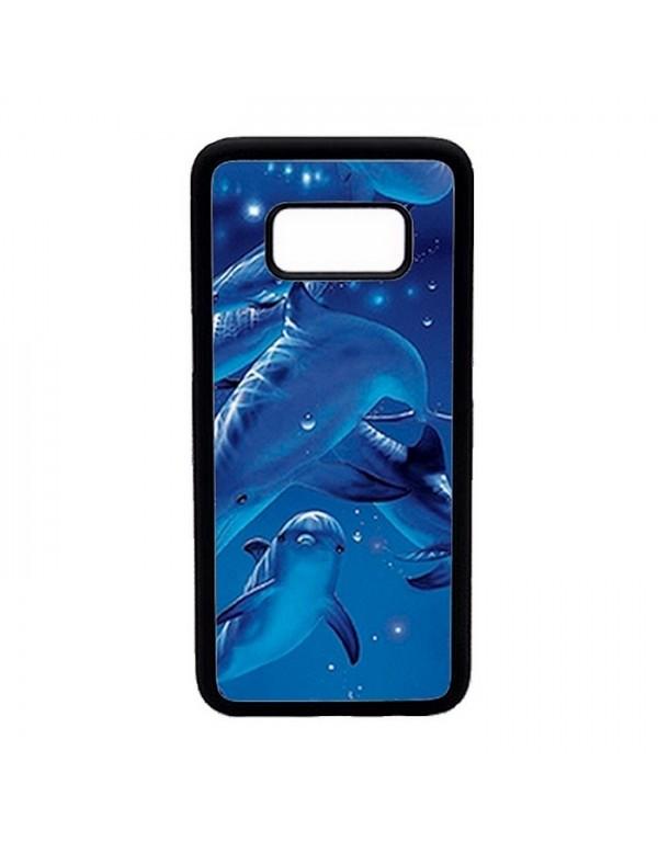 Coque rigide Samsung Galaxy S8 - Dauphins Bleus